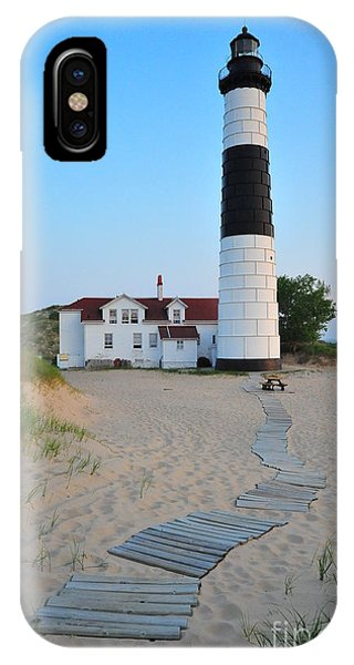 Big Sable Point Great Lakes Lighthouse IPhone Case