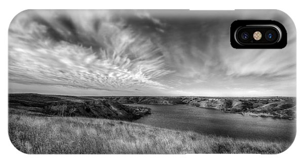 Big Sky Country In Black And White IPhone Case
