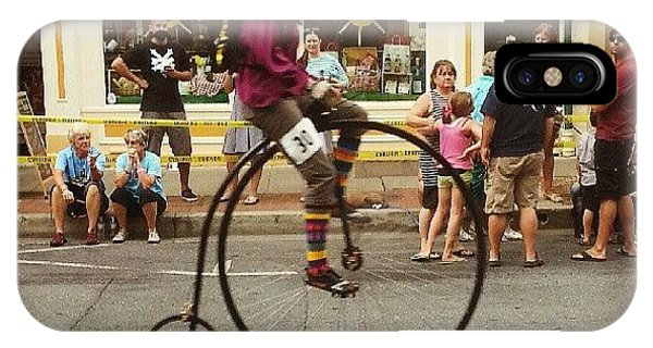 Quirky iPhone Case - Big Wheels Go Fast #bike #frederick by Rebecca Shoemaker