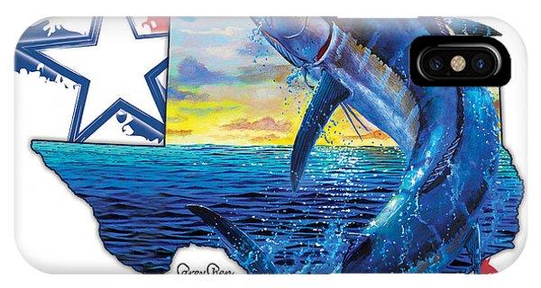 Swordfish iPhone Case - Bigger In Texas by Carey Chen
