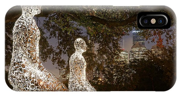 Bigger Than The Sum Of Our Parts - Tolerance Sculptures Downtown Houston Texas IPhone Case