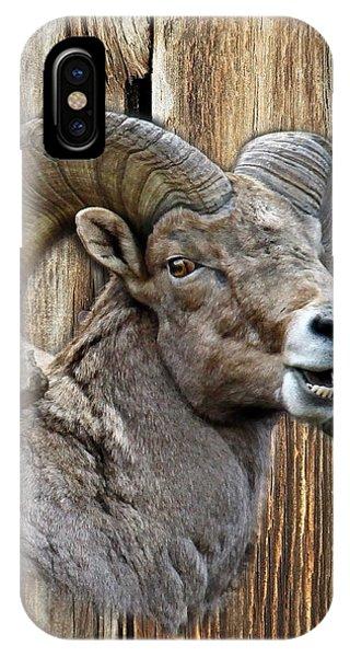 Bighorn Sheep Barnwood IPhone Case