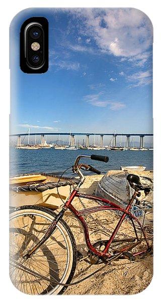 Coronado iPhone Case - Bike And A Brdige by Peter Tellone