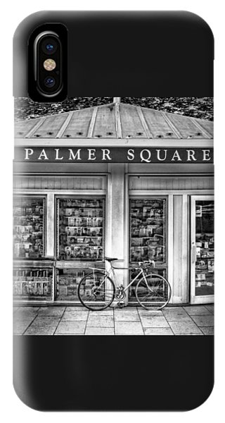 Bike At Palmer Square Book Store In Princeton IPhone Case