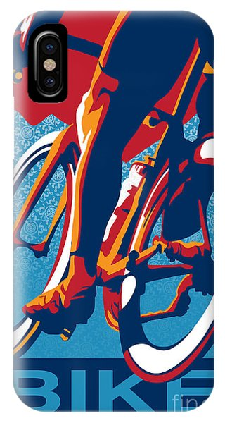 Bicycle iPhone X Case - Bike Hard by Sassan Filsoof