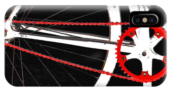 Bike In Black White And Red No 2 IPhone Case