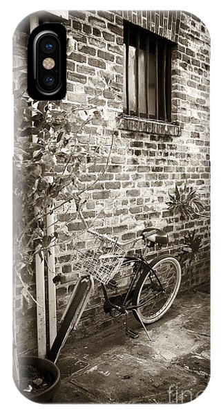 Bike In Pirates Alley Phone Case by John Rizzuto