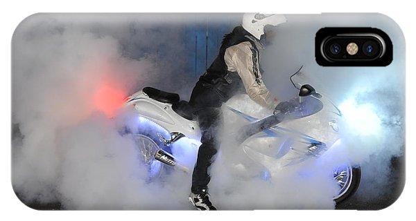Biker Burn Out Phone Case by Joe Oliver