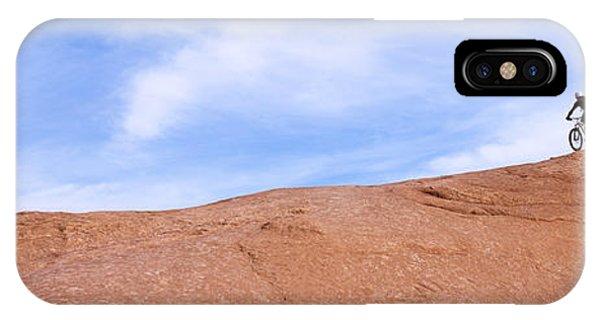 Slickrock iPhone Case - Biker On Slickrock Trail, Moab, Grand by Panoramic Images