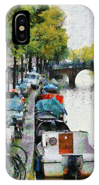 Bikes And Boats In Old Amsterdam IPhone Case