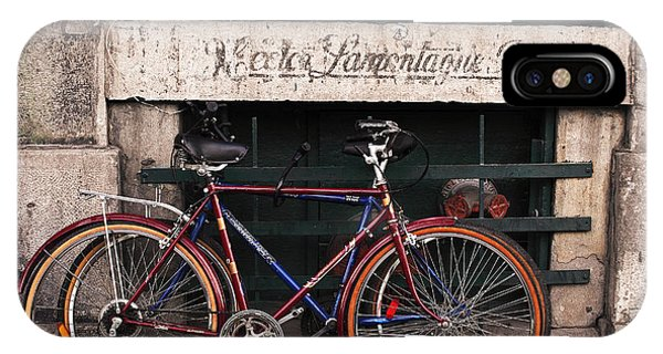 Bikes In Old Montreal Phone Case by John Rizzuto