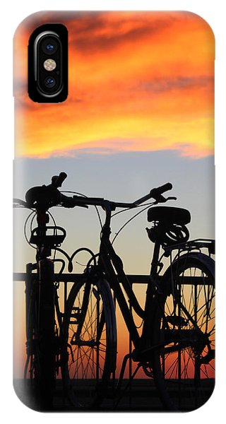 Bikes West Meadow Beach New York IPhone Case