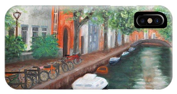 Biking Along The Canal IPhone Case