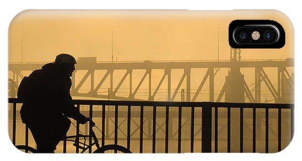 IPhone Case featuring the photograph Biking The Bridges by Joe Winkler