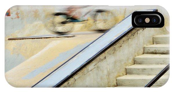 Biking The Skateboard Park IPhone Case