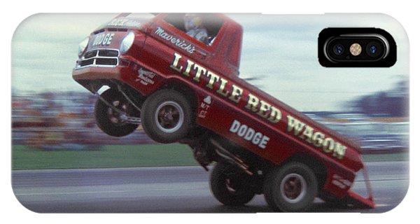 Wagon Wheel iPhone Case - Bill Maverick Golden In The Little Red Wagon by Mike McGlothlen