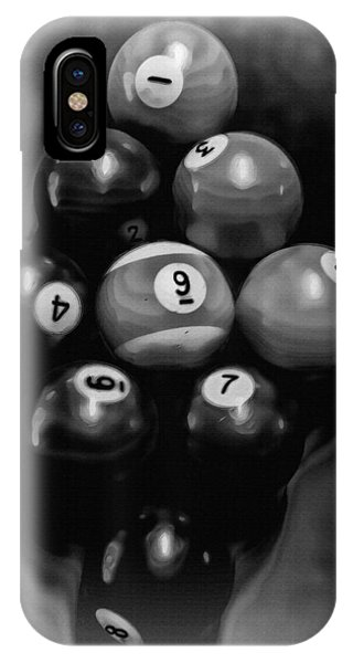 Billiards Art - Your Break - Bw  IPhone Case