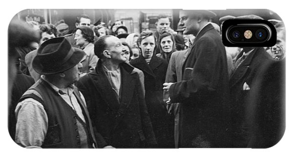 Billy Graham Jr. On A Boston Street 1950 IPhone Case