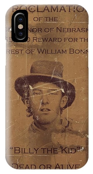 Billy The Kid Wanted Poster IPhone Case