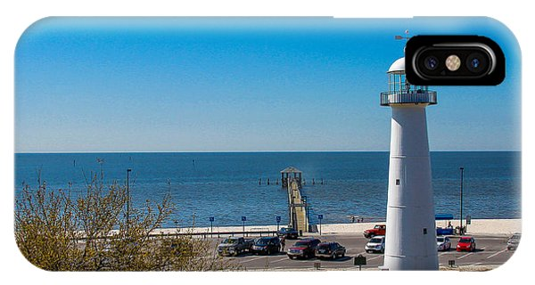 Biloxi Lighthouse And The Gulf Of Mexico IPhone Case