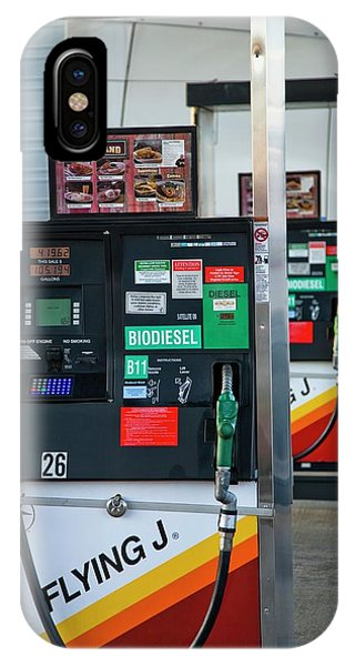Controversial iPhone Case - Biodiesel Fuel Pump by Peter Menzel/science Photo Library