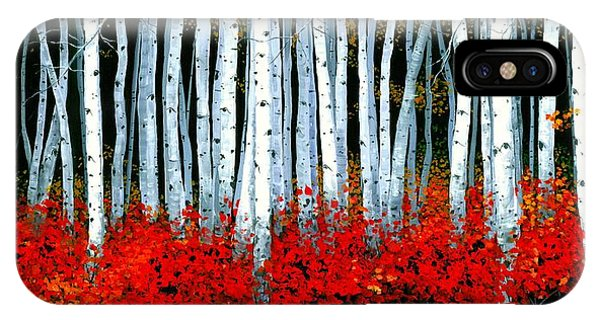 Natural iPhone Case - Birch 24 X 48  by Michael Swanson