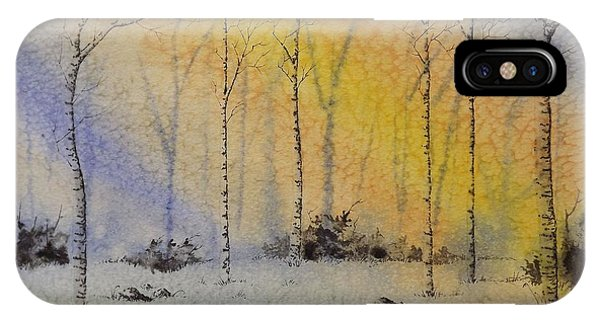Birch In Blue IPhone Case
