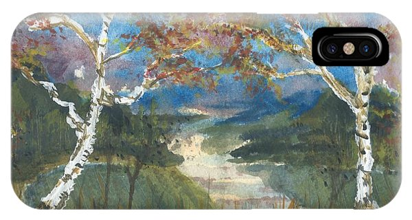 Birch Trees On The Ridge  IPhone Case