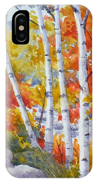 Birches Along The River IPhone Case