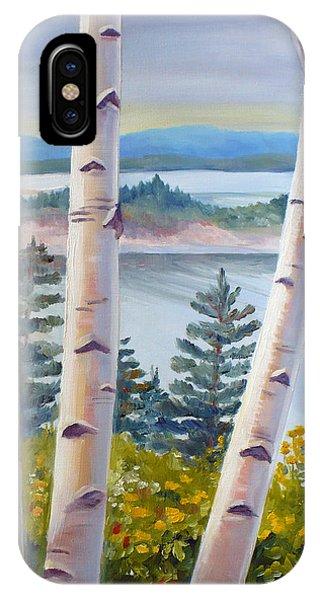 Birches In Nova Scotia IPhone Case