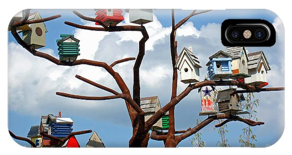 Bird House Village IPhone Case