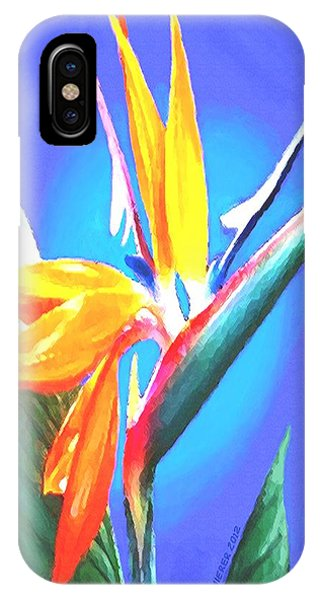 Bird Of Paradise Flower IPhone Case
