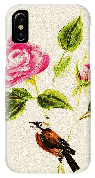 Bird On A Flower IPhone Case
