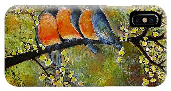 Three Little Robin Birds IPhone Case