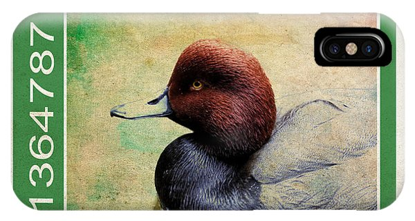 Bird Stamp IPhone Case