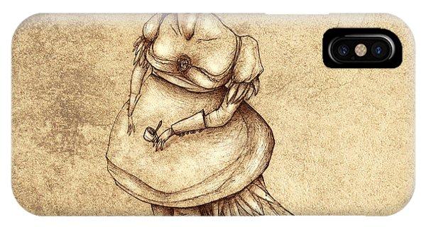 Strange iPhone Case - Bird Woman by Autogiro Illustration