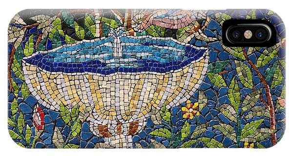 Birdbath Mosaic IPhone Case