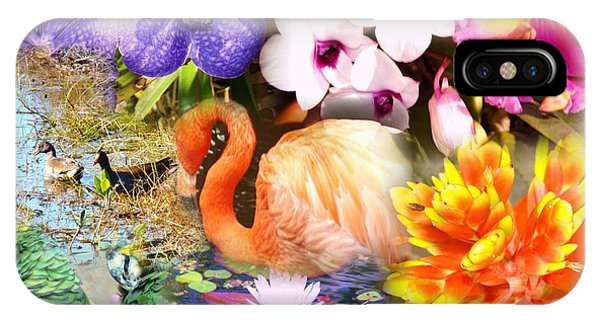 Birds And Flowers Phone Case by Van Ness