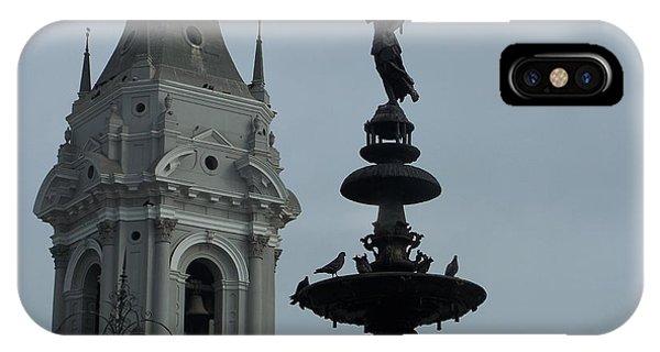 Birds On Fountain IPhone Case