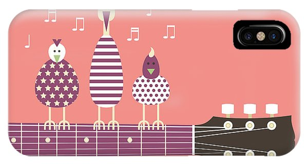 Musical iPhone Case - Birds Sing To The Guitar Neck, Vector by Ladislav Krajca