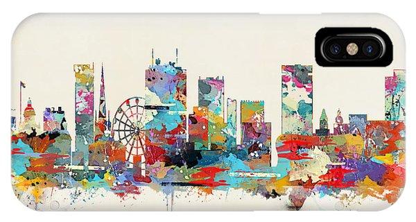 England iPhone Case - Birmingham City Skyline by Bri Buckley