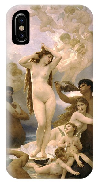 Venus Williams iPhone Case - Birth Of Venus by William Bouguereau