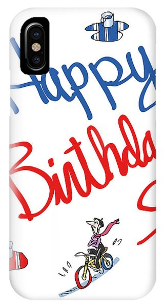 French Painter iPhone Case - Birthday Bicycle Painter by Mark Armstrong