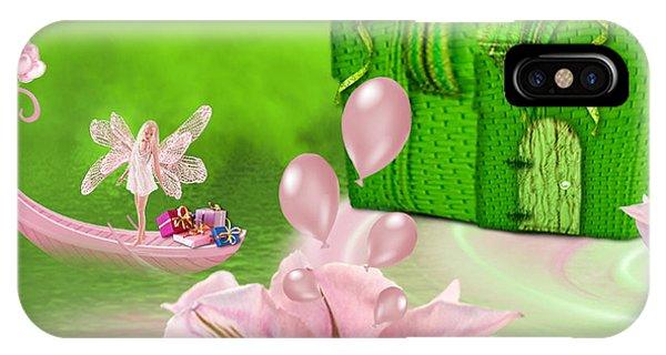 Birthday Fairy Goes To Work - Fantasy Art By Giada Rossi IPhone Case