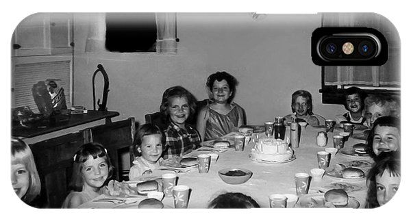 Birthday Party Table Grove Illinois 1957 IPhone Case