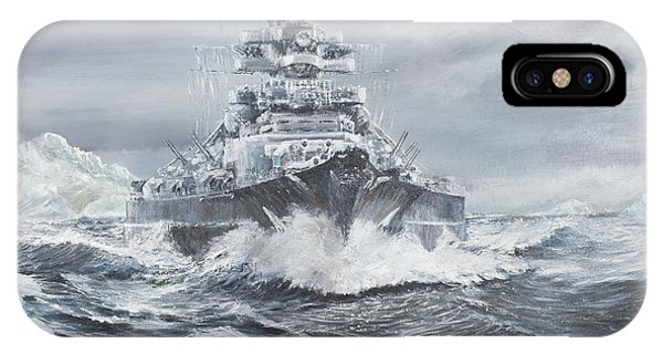 Bismarck Off Greenland Coast  IPhone Case