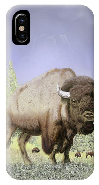 Bison On The Range IPhone Case