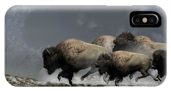 Bison Stampede IPhone Case