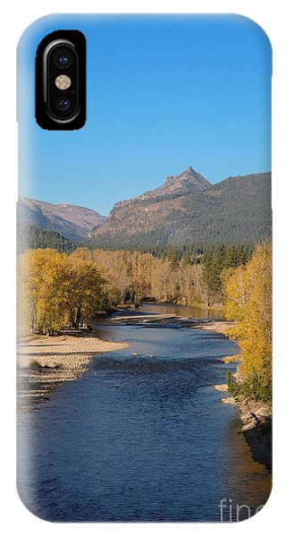 Bitterroot River Fall IPhone Case