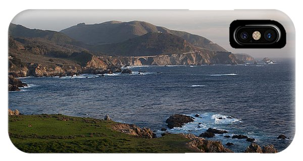 Monterey iPhone Case - Bixby Bridge And Cows by Mike Reid